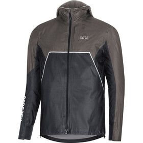 GORE WEAR R7 Gore-Tex Shakedry Trail Hooded Jacket Herren black/lava grey